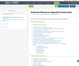 Authentic Resources: Spanish: Community