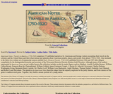 American Notes: Travels in America, 1750-1920