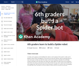 6th graders learn to build a Spider robot