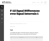 Equal Differences Over Equal Intervals 1