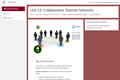Kenya ICT CFT Course: Collaborative Teacher Networks