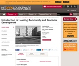 Introduction to Housing, Community and Economic Development, Fall 2004