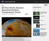 20-Year Arctic Autumn Seasonal Surface Temperature Trend