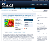 Real-Time Mesoscale Analysis (RTMA): What is the NCEP RTMA and how can it be used?