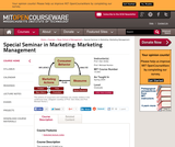 Special Seminar in Marketing: Marketing Management, Spring 2004
