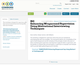 B10 Enhancing Wraparound Supervision Using Motivational Interviewing Techniques