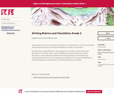 Writing Rubrics and Checklists: Grade 3