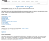 Data Analysis and Visualization in Python for Ecologists