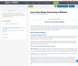 Learn Easy Steps: Evaluating a Website