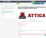 Advanced Child Development:  Child Development Issues in Underdeveloped Nations