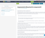 Argumentative Essay (and its components!)
