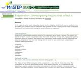 Evaporation: Investigating Factors That Affect It