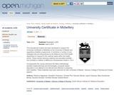 University Certificate in Midwifery