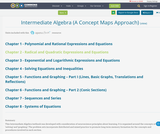 Intermediate Algebra (A Concept Maps Approach)