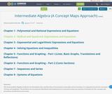Intermediate Algebra (A Concept Maps Approach)