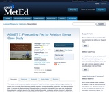 ASMET 7: Forecasting Fog for Aviation: Kenya Case Study