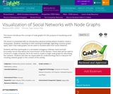 Visualization of Social Networks with Node Graphs