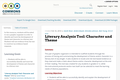 Literary Analysis Tool: Character and Theme