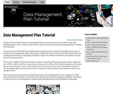 Data Management Plan Tutorial, Penn State University