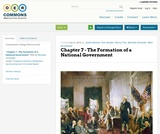 Chapter 7 - The Formation of a National Government