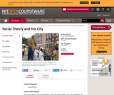 Social Theory and the City, Fall 2005