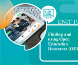 Finding and Using Open Education Resources (OER)