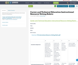 Career and Technical Education Instructional Resource Vetting Rubric