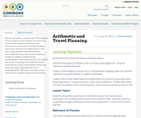 Arithmetic and Travel Planning
