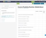 Creative Flexibility Checklist—Middle School