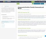 Community Portfolio: Family, Community and World