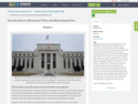 Introduction to Monetary Policy and Bank Regulation