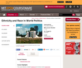 Ethnicity and Race in World Politics, Fall 2005