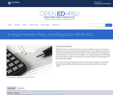 Energy Markets, Policy, and Regulation