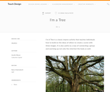 Teach Design: I'm A Tree