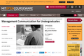 Management Communication for Undergraduates, Fall 2012