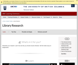Learning Toolkit: Library Research