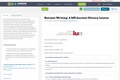 Resume Writing: A MS Ancient History Lesson