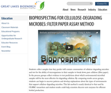 Bioprospecting for Cellulose-Degrading Microbes: Filter Paper Assay Method