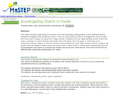 Investigating Starch in Foods