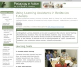 Using Learning Assistants in Recitation Tutorials