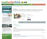 Developing a Living Definition of Reading in the Elementary Classroom