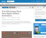 SCA Intellectual Property Rights (IPR) Getting Third Party Rights Holders' Permissions