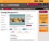 Strategic Management II, Fall 2005