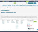Literature Based STEM - Book List & Corresponding Activities