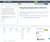 College Physics Reading Guides: 1st Semester