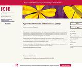 Appendix: Protocols and Resources (2012)
