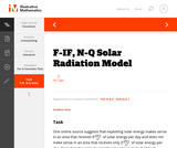 F-IF, N-Q Solar Radiation Model