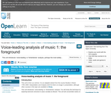 Voice-Leading Analysis of Music 1: The Foreground