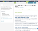 Learn: Technology and Entrepreneurship Staff Version
