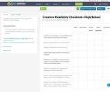 Creative Flexibility Checklist—High School